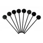Koktél pálcikák - Korong végű - Fekete 250db