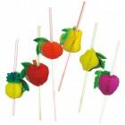 Szívószál - Funky - Gyümölcs - 100db