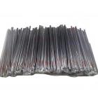 Fekete szívószál - Hajlítható - 1000 db. - Egyessével csomagolt
