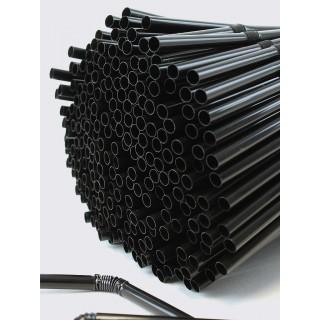 Vastag hajlítható fekete szívószálak - 1000 db.