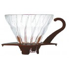 HARIO Coffee Dripper Glass V60 TIP-02 Barna