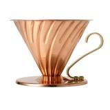 HARIO Coffee Dripper Metalic V60 TIP-02 Réz
