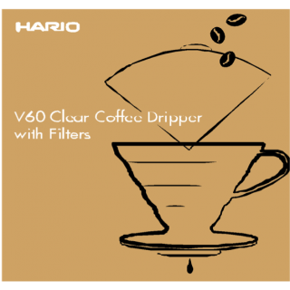 HARIO Kit Coffee Dripper V60 - 02 Műanyag + 100db. filterrel
