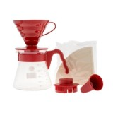 HARIO Coffee Brewing Kit V60 műanyag Piros - 02