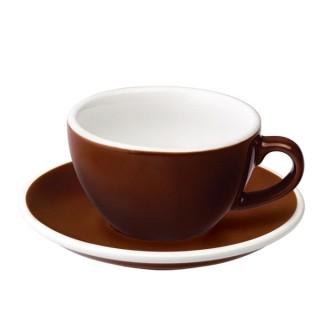 Loveramics Egg - Cappuccino 200 ml - Kávéscsésze+Tányér - Barna