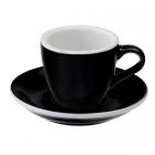 Loveramics Egg - Espresso 80 ml - Kávéscsésze+Tányér - Fekete