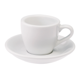Loveramics Egg - Espresso 80 ml - Kávéscsésze+Tányér - Fehér
