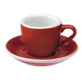 Loveramics Egg - Espresso 80 ml - Kávéscsésze+Tányér - Piros