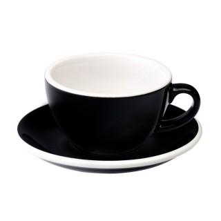 Loveramics Egg - Flat White 150 ml - Kávéscsésze+Tányér - Fekete