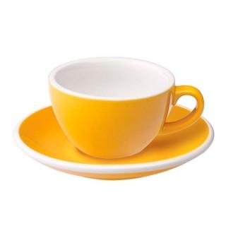 Loveramics Egg - Flat White 150 ml - Kávéscsésze+Tányér - Sárga
