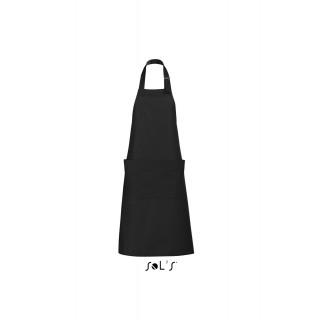 Báros/Pincér kötény - Hosszú - 2 zsebes - Fekete - 90x75 cm - Premium