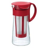 HARIO Cold Brew kancsó filterrel - 600 ml - Piros