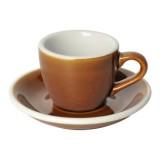 Loveramics Egg - Espresso 80 ml - Kávéscsésze+Tányér - Karamell
