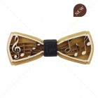 PA01.5 - Fa csokornyakkendő - 3D Hangjegyek