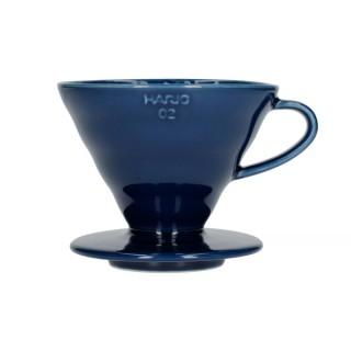 Hario V60-02 Ceramic Coffee Dripper Indigo Blue