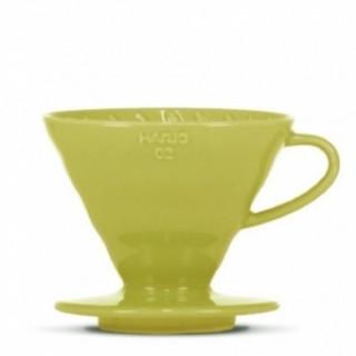 Hario Ceramic Dripper V60-02 GREEN + 40 fehér papírfilter