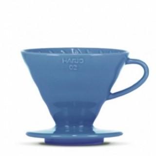 Hario Ceramic Dripper V60-02 TURQUOISE BLUE + 40 fehér papírfilter