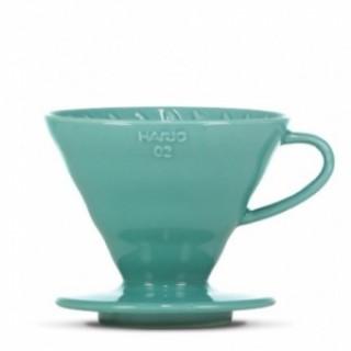 Hario Ceramic Dripper V60-02 TURQUOISE GREEN + 40 fehér papírfilter