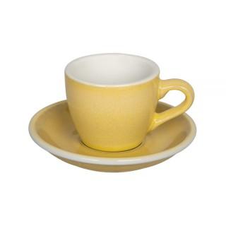 Loveramics Egg - Espresso 80 ml - Kávéscsésze+Tányér - Butter Cup