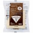 CAFEC Paper Filter Abaca cone 1-cup 100pcs brn AC1-100B