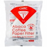 CAFEC Paper Filter Abaca cone 1-cup 100pcs wht AC1-100W