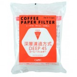 CAFEC Paper Filter Deep-45 3-7 cup 100pcs wht DDF-100W