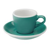 Loveramics Egg - Espresso 80 ml - Kávéscsésze+Tányér - Türkiz