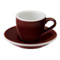 Loveramics Egg - Espresso 80 ml - Kávéscsésze+Tányér - Barna