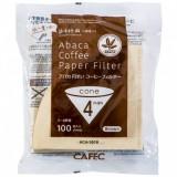 CAFEC Paper Filter Abaca cone 4-cup 100pcs brn AC4-100B